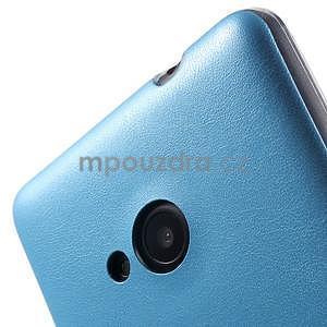 Ultra tenký kryt s koženkovým zadným dielom na Microsoft Lumia 535 - modrý - 4