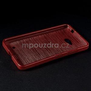 Broušený gélový obal na Microsoft Lumia 640 LTE - červený - 4