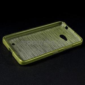 Broušený gélový obal na Microsoft Lumia 640 LTE - zelený - 4