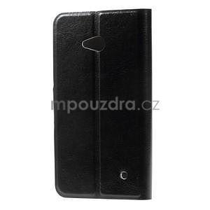 Čierné peňaženkové puzdro na Microsoft Lumia 640 LTE - 4