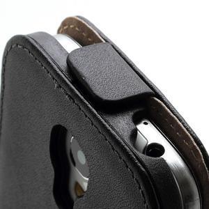 Černé flipové pouzdro mobil na Samsung Galaxy IV mini - 4