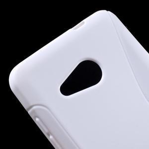 S-line gélový obal pre mobil Microsoft Lumia 550 - biely - 4