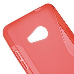 S-line gélový obal pre mobil Microsoft Lumia 550 - červený - 4