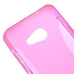 S-line gélový obal pre mobil Microsoft Lumia 550 - rose - 4