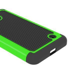 Odolný hybrdiní kryt na mobil Microsoft Lumia 640 - zelený - 4