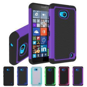 Odolný hybrdiní kryt na mobil Microsoft Lumia 640 - fialový - 4