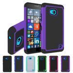 Odolný hybrdiní kryt na mobil Microsoft Lumia 640 - fialový - 4/5