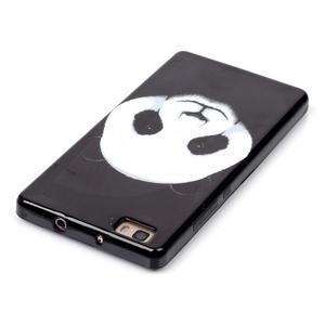 Gelový obal na mobil Huawei Ascend P8 Lite - panda - 4