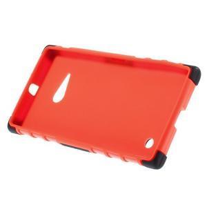 Outdoor odolný kryt na Nokia Lumia 730/735 - oranžový - 4