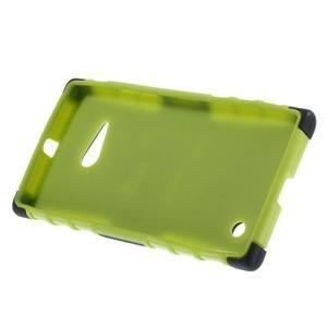 Outdoor odolný kryt na Nokia Lumia 730/735 - zelený - 4