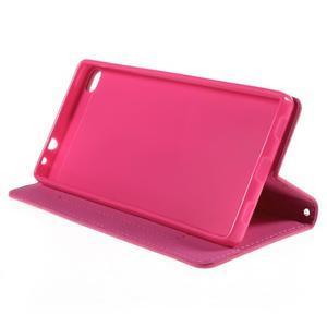 Style peňaženkové puzdro na Huawei Ascend P8 - rose - 4