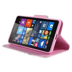 Peňaženkové puzdro pre Microsoft Lumia 535 - motýlci - 4