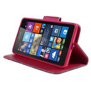 Peňaženkové puzdro pre Microsoft Lumia 535 - vlčie maky - 4