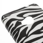Soft gélový obal pre Microsoft Lumia 535 - zebra - 4/5