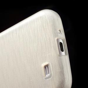 Gélový kryt s brúseným vzorem pre Samsung Galaxy S4 - biely - 4