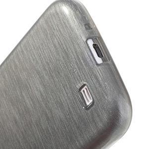 Gélový kryt s brúseným vzorem pre Samsung Galaxy S4 - šedý - 4