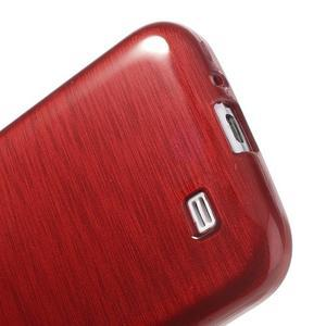 Gélový kryt s brúseným vzorem pre Samsung Galaxy S4 - červený - 4