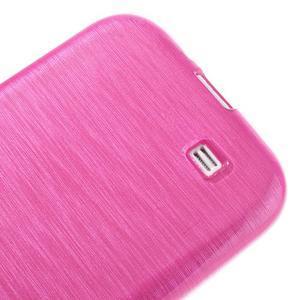 Gélový kryt s brúseným vzorem pre Samsung Galaxy S4 - rose - 4