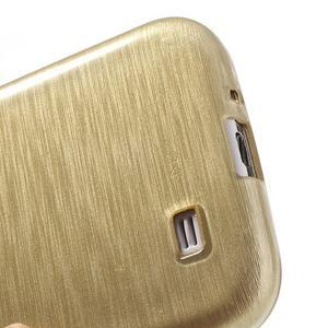 Gélový kryt s broušeným vzorem na Samsung Galaxy S4 - zlatý - 4