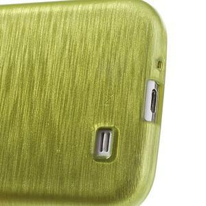 Gélový kryt s broušeným vzorem na Samsung Galaxy S4 - žlutozelený - 4