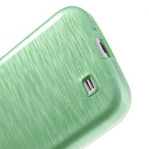 Gélový kryt s broušeným vzorem na Samsung Galaxy S4 - azurový - 4