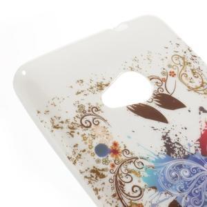 Soft gélový obal na Microsoft Lumia 535 - farebný motýl - 4
