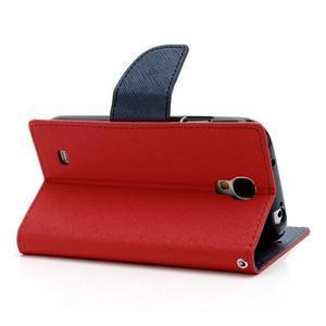 Fancy peňaženkové puzdro na Samsung Galaxy S4 - červené - 4