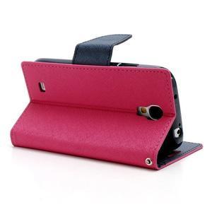 Fancy peňaženkové puzdro na Samsung Galaxy S4 -  rose - 4