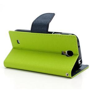 Fancy peňaženkové puzdro pre Samsung Galaxy S4 - zelené - 4