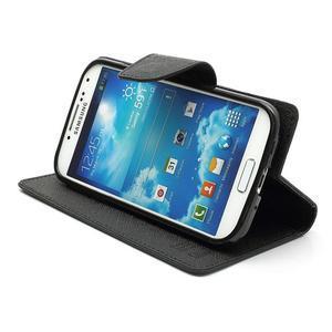 Fancy peňaženkové puzdro pre Samsung Galaxy S4 -  čierné - 4