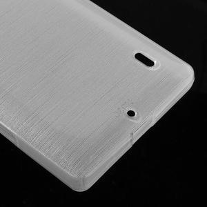 Gélový obal s brúseným vzorem Nokia Lumia 930 - biely - 4