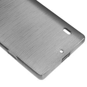 Gélový obal s brúseným vzorem Nokia Lumia 930 - sivý - 4