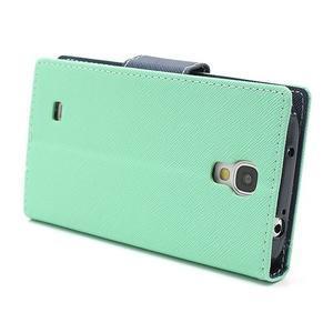 Fancy peňaženkové puzdro na Samsung Galaxy S4 -  azurové - 4