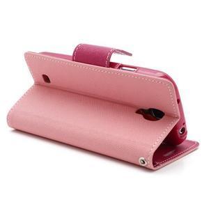 Fancy peňaženkové puzdro na Samsung Galaxy S4 -  růžové - 4