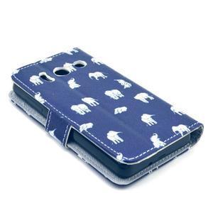 Peňaženkové puzdro na Huawei Ascend Y300 - banda slonov - 4