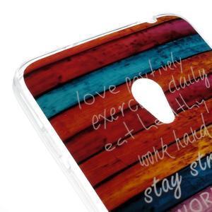 Gélový obal na mobil Asus Zenfone 5 - farby dřeva - 4