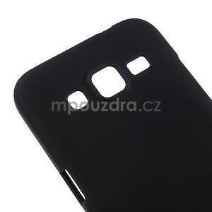 Pogumový plastový obal na Samsung Galaxy Core Prime - černý - 4