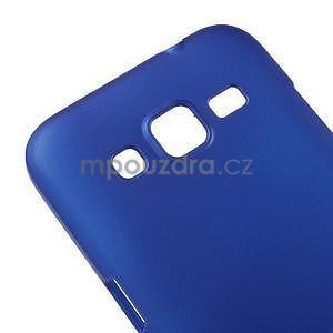 Pogumový plastový obal na Samsung Galaxy Core Prime - modrý - 4