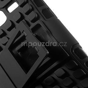 Extrémně odolný obal se stojánkem na Samsung Galaxy Core Prime - černý - 4