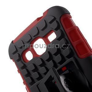 Extrémne odolný obal so stojanom pre Samsung Galaxy Core Prime - červený - 4