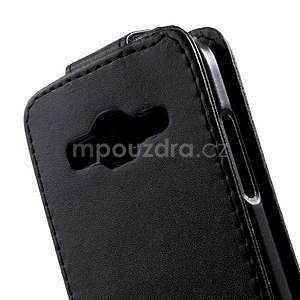 Černé flipové puzdro pre Samsung Galaxy Core Prime - 4