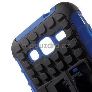 Extrémně odolný obal se stojánkem na Samsung Galaxy Core Prime - modrý - 4