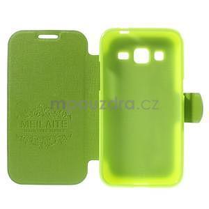 Zapínací peňaženkové puzdro pre Samsung Galaxy Core Prime - zelené - 4