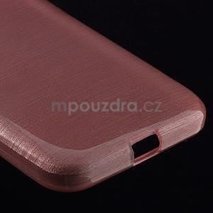 Brúsený gélový kryt pre Samsung Galaxy Core Prime - ružový - 4