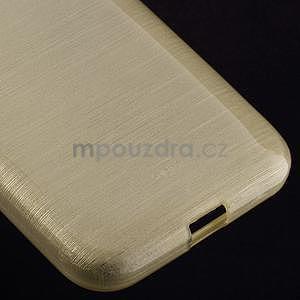 Brúsený gélový kryt pre Samsung Galaxy Core Prime - zlatý - 4