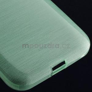 Broušený gelový kryt na Samsung Galaxy Core Prime - cyan - 4