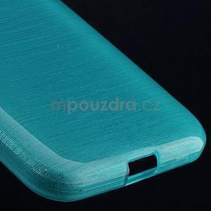 Brúsený gélový kryt pre Samsung Galaxy Core Prime - tyrkysový - 4