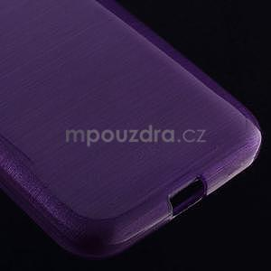 Broušený gelový kryt na Samsung Galaxy Core Prime - fialový - 4