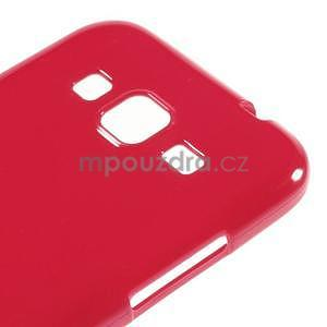 Lesklý gelový obal na Samsung Galaxy Core Prime - červený - 4