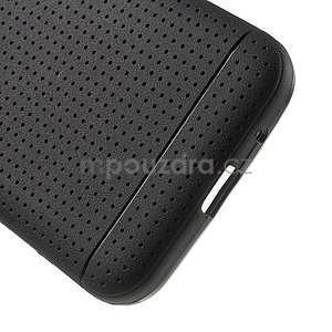 Čierny tečkovaný kryt pre Samsung Galaxy Core Prime - 4